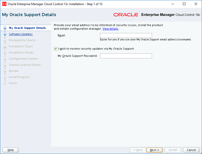 Install Oracle Enterprise Manager 13c Release 2 – NuDais